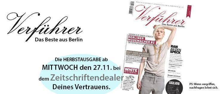 "Das Hautpstadtmagazin der ""Verführer"""