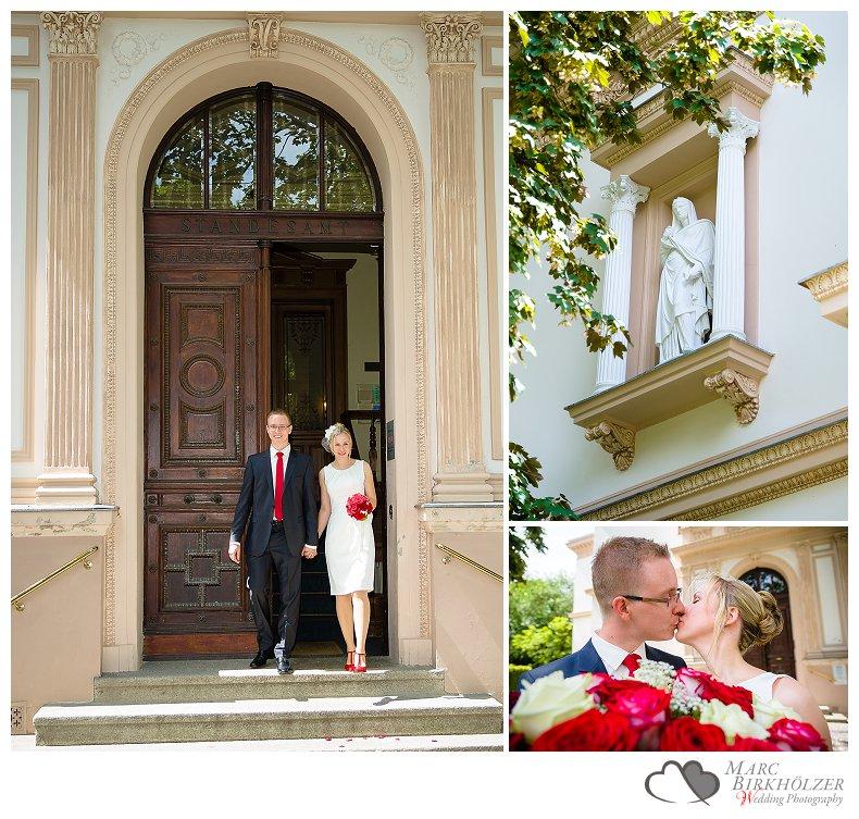 Hochzeitsfotos von der standesamtlichen Trauung