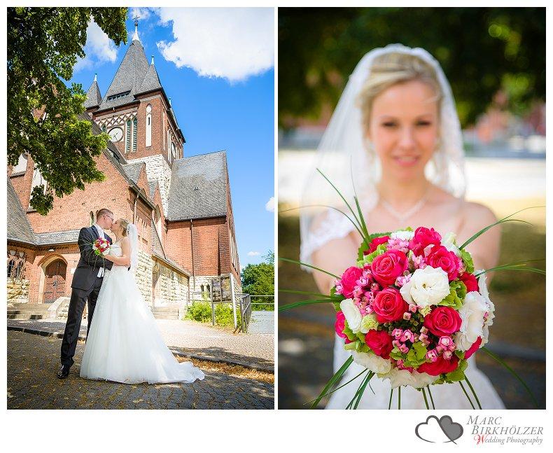 Hochzeitsfotos von der Kirche